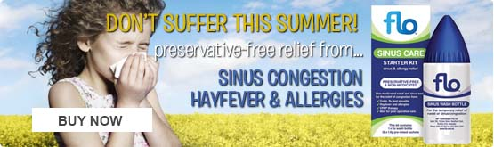 Flo Sinus Care - preservative free sinus wash for hayfever and allergies